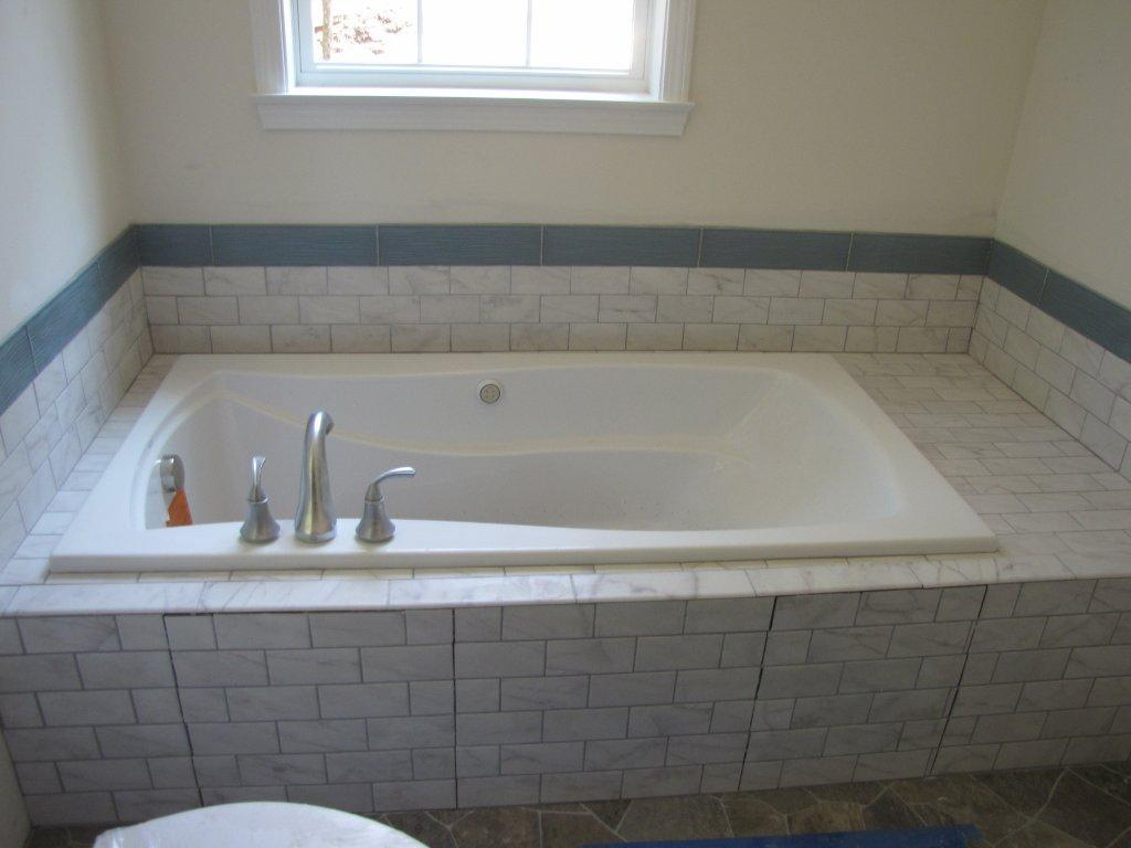 How to install ceramic tile around bathtub d wall decal Best way to tile around a bath